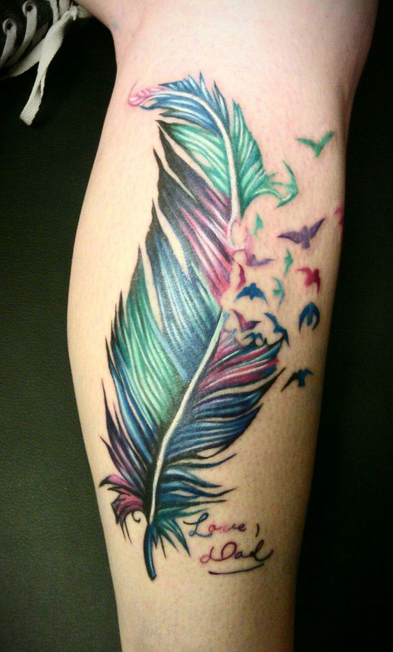 Plume Tattoo Elegant Tatouage Ephemere Plume Oiseau Infinity