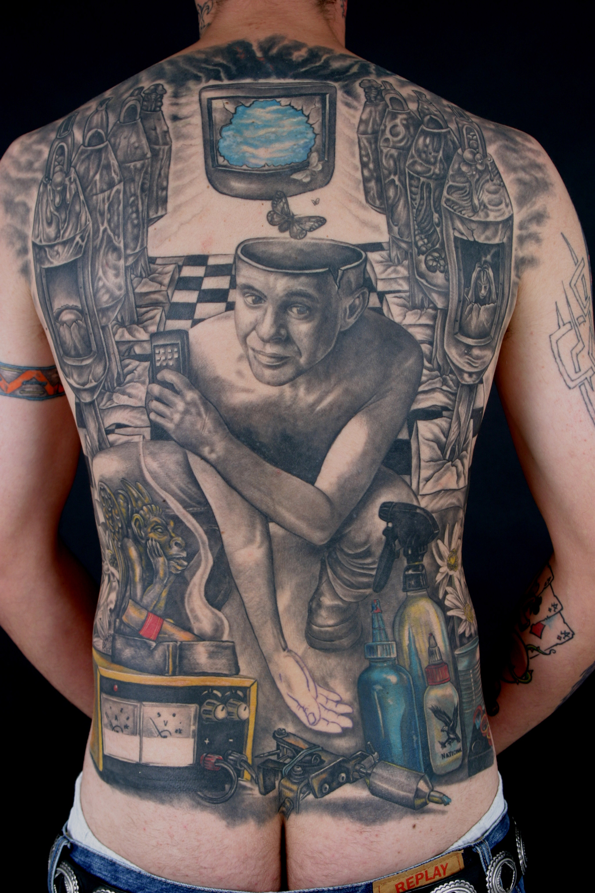 St phane chaudesaigues tatoueur et pionnier fran ais du - Tatouage pour homme ...