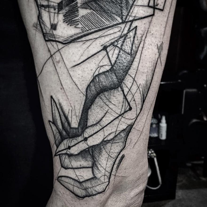Croquis De Tatouage des tatouages qui imitent des croquis - tattoos.fr