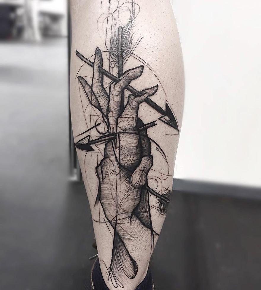 Croquis Tatouage des tatouages qui imitent des croquis - tattoos.fr