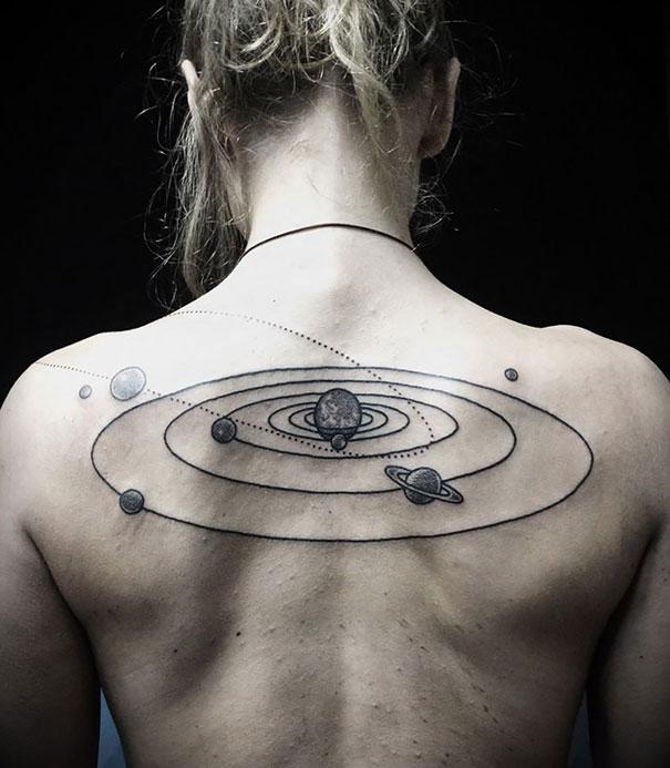 tatouages cosmiques. Black Bedroom Furniture Sets. Home Design Ideas