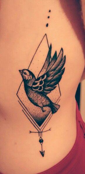 tatouage oiseau cote femme | kolorisse developpement